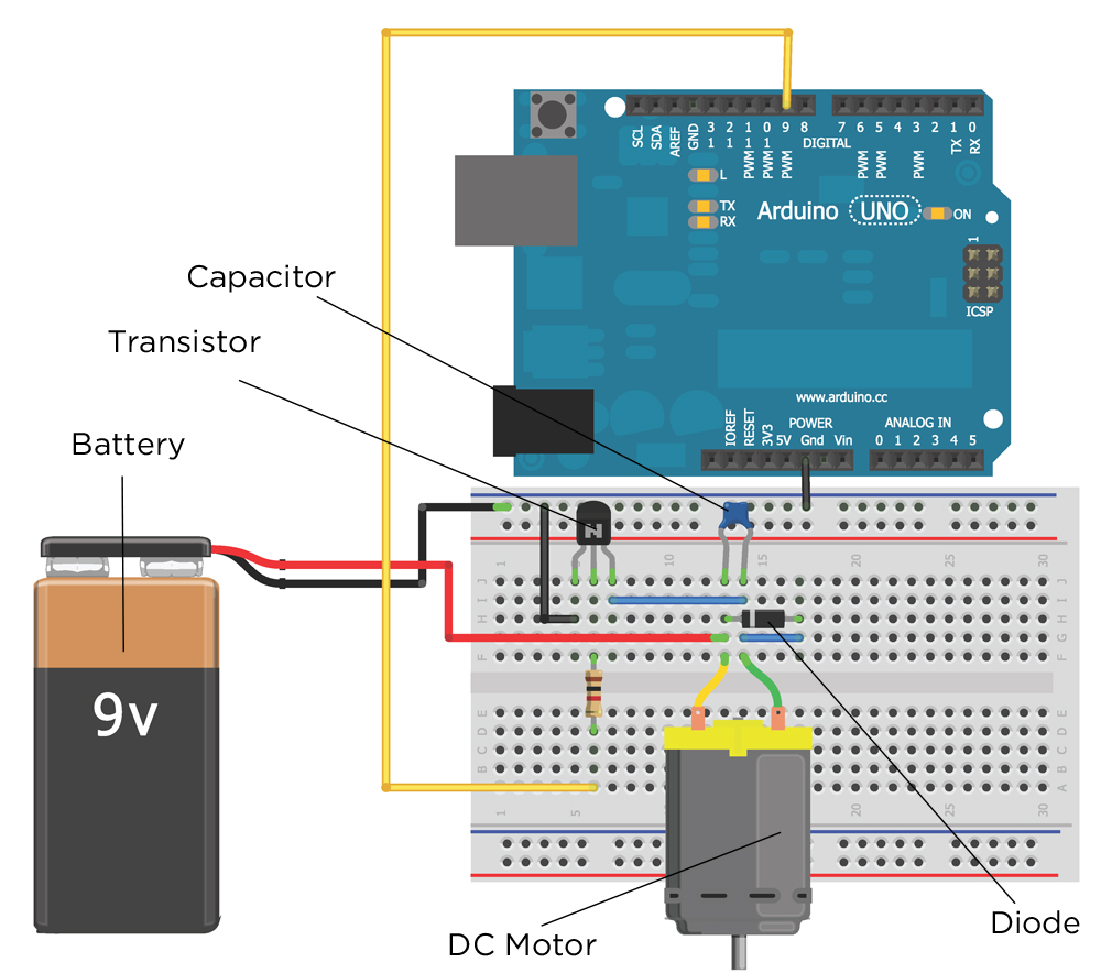 Chapter 4 Exploring Arduino Figure 3 Circuit Schematic