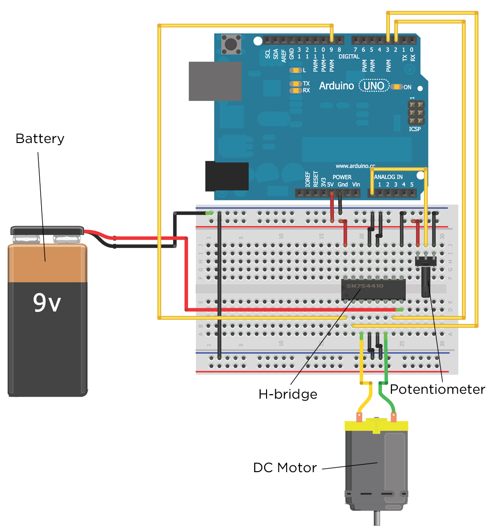 Chapter 4 Exploring Arduino Use This Following H Bridge Circuit Schema On Our Project Figure 7