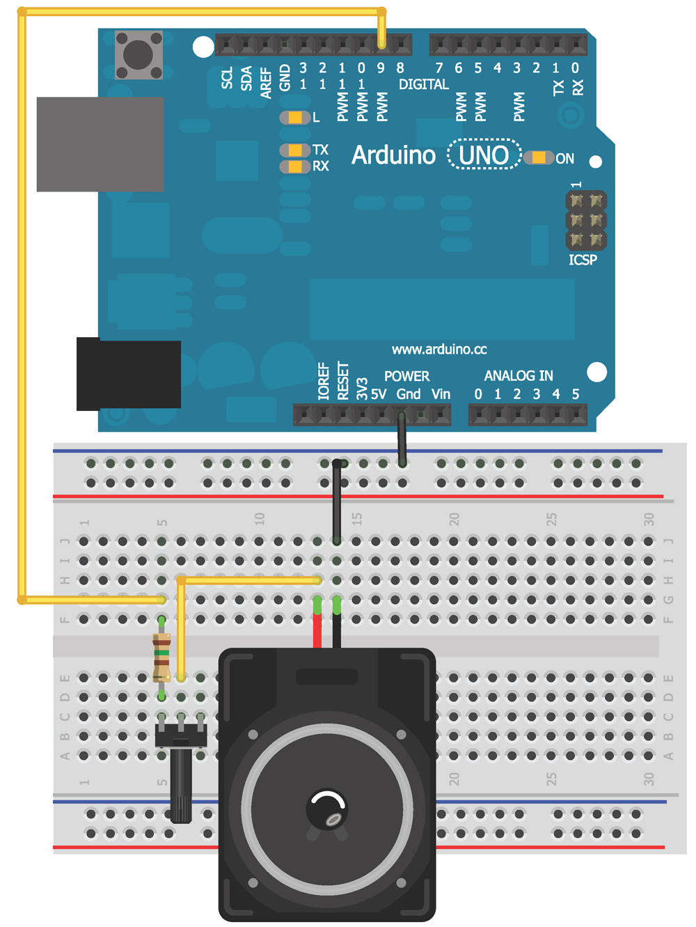 How to use WTV020SD music module with Arduino