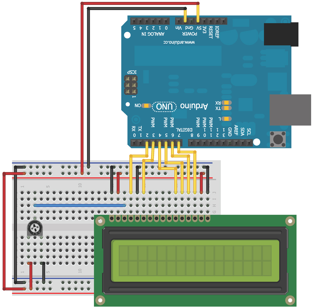 Chapter 10 Exploring Arduino Wiring Lcd Figure 2