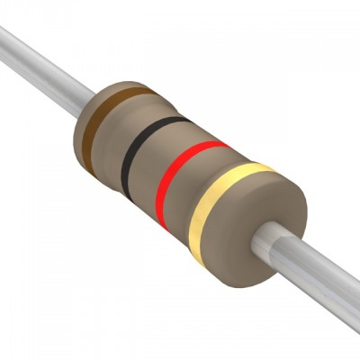 Resistor Has Brown Black